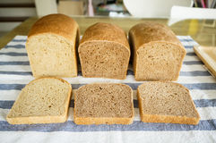 Freshly baked homemade whole wheat grain bread Royalty Free Stock Photos