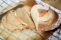 Freshly baked homemade whole wheat grain buns, whole wheat bread Stock Photos