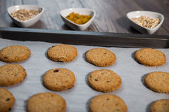 Freshly baked integral biscuits Stock Photography