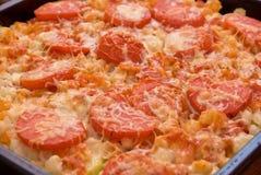Freshly baked lasagna Stock Photos