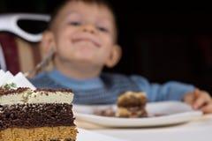 Freshly baked layer cake for dessert Stock Image