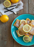 Freshly baked lemon squares Royalty Free Stock Image