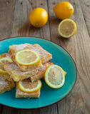 Freshly baked lemon squares Stock Photography