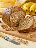 Banana Bread Nut Loaf Royalty Free Stock Photos
