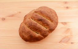 Freshly baked loaf of multi seed malted bread Royalty Free Stock Images