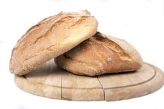 Freshly baked loaves of bread Royalty Free Stock Photo