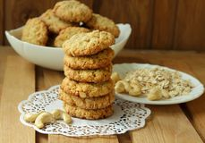Freshly baked oatmeal cookies Royalty Free Stock Images