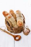 Freshly baked Pane Di Casa bread rolls Stock Photos