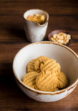 Freshly baked peanut butter cookies Stock Image