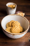 Freshly baked peanut butter cookies Royalty Free Stock Photo