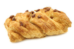 Freshly baked pecan bun with apricot filling Stock Image