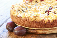 Freshly baked plum cake Royalty Free Stock Photo
