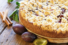 Freshly baked plum cake Royalty Free Stock Image