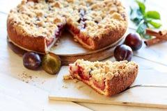 Freshly baked plum cake Stock Photo