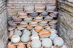Freshly baked pottery Stock Photography