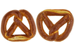 Freshly baked Pretzel with sea salt Stock Images