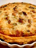 Freshly baked quiche Stock Photo