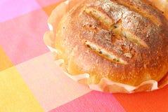 Fresh round healthy sourdough bread Stock Photo