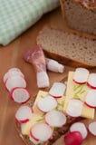 Freshly baked rye bread Stock Image