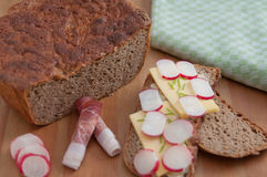 Freshly baked rye bread Royalty Free Stock Photos