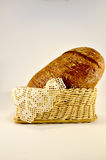 Freshly baked rye bread in a basket Royalty Free Stock Image