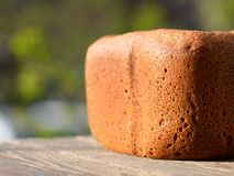 Freshly baked rye bread on table Royalty Free Stock Images
