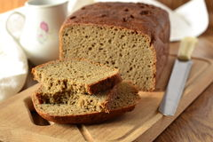Freshly baked rye-wheat bread Stock Photography