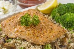 Freshly baked salmon Royalty Free Stock Image