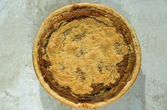 Freshly baked shoofly pie Stock Image