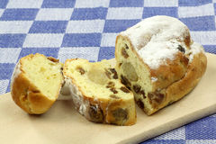 Freshly baked and sliced easter roll royalty free stock photo
