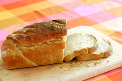Fresh slices of sourdough bread Royalty Free Stock Photography