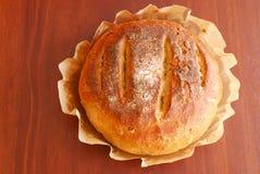 Fresh round sourdough bread Stock Photo