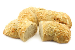 Freshly baked spelt bread covered with grated cheese Royalty Free Stock Image
