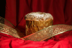 Freshly baked spicy homemade Panettone for Christmas and New Yea Royalty Free Stock Photo