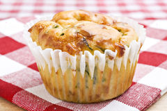Freshly baked spinach and cheese muffins Stock Photo