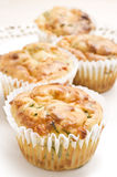 Freshly baked spinach and cheese muffins Royalty Free Stock Photo