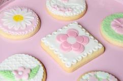 Freshly Baked Spring Flower  Cookies Stock Image