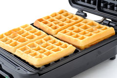 Freshly baked sugar waffles Royalty Free Stock Image