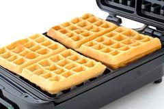 Freshly baked sugar waffles Royalty Free Stock Image