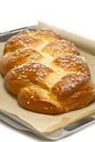 Freshly baked sweet braided bread Stock Image