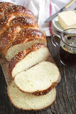 Freshly baked sweet braided bread loaf Stock Photography