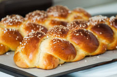 Freshly baked sweet bread stock images