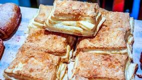 Freshly baked sweet buns or bread rolls, closeup Stock Photos