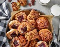 Freshly baked sweet buns Royalty Free Stock Photo