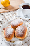 Freshly baked sweet buns with jam Royalty Free Stock Photography