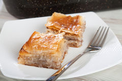 Freshly baked traditional baklava Stock Image