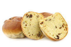 Freshly baked traditional dutch raisin buns Royalty Free Stock Photography