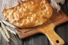 Freshly baked  traditional   turkish bread Royalty Free Stock Images