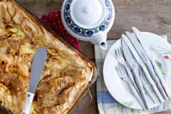 Freshly baked Turkish borek ready for serving Royalty Free Stock Image