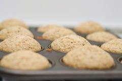Freshly baked vanilla muffins Stock Photos